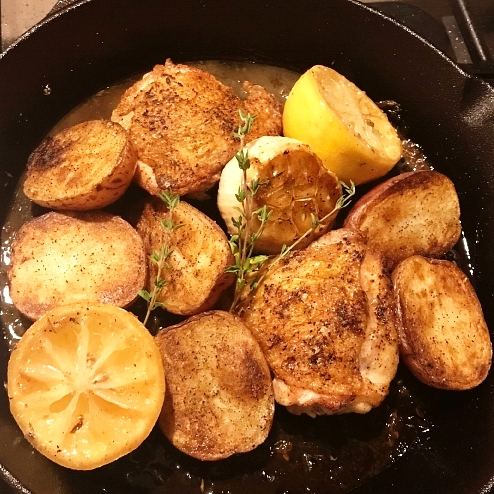 Lemon Garlic Chicken with Roasted Red Potatoes